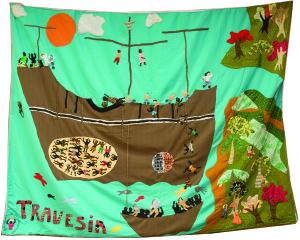 La traversée, oeuvre collective, Crédit Fondation Juan Manuel Echavarria