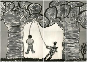 Torture d'un être humain, par El Sueco, Crédit, Fondation Juan Manuel Echavarria